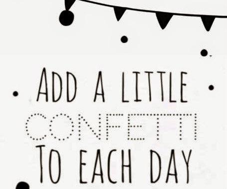 Add a little confetti