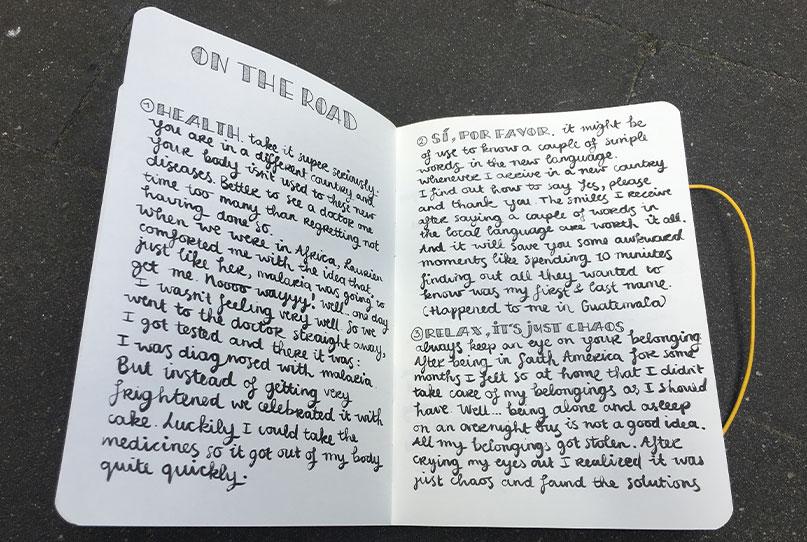 Wonderlust travel journal
