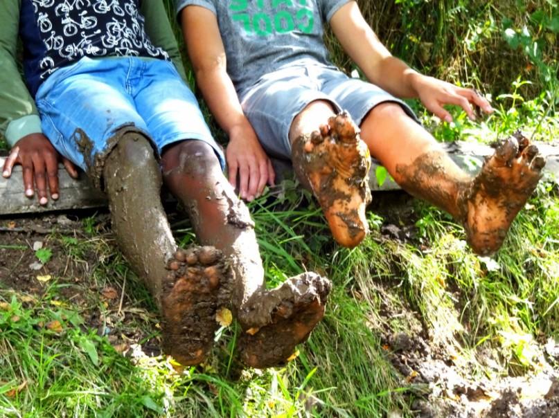 ardennen blote voetenpad