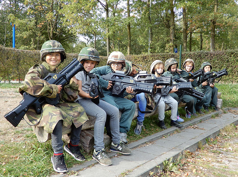 Lasergamen Paintball Warriors Rutbeek kinderfeestje 8-15 jaar