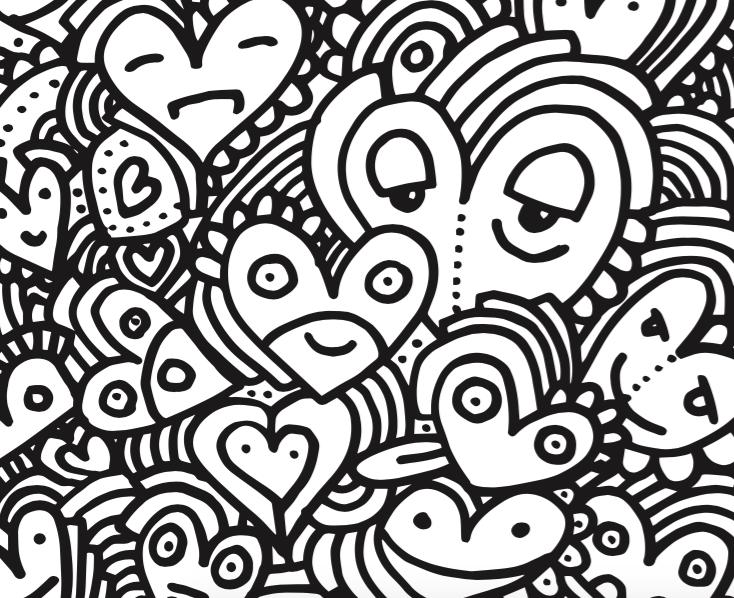 Valentijnsdag kleurplaat