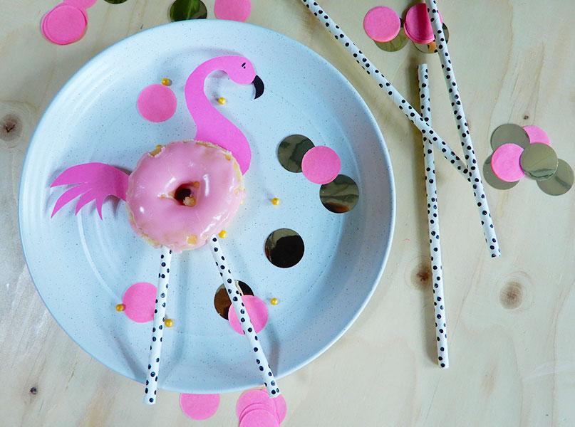 Flamingo traktatie donut