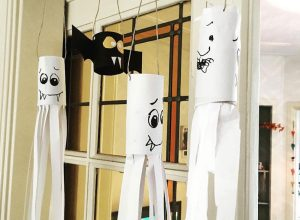 Halloween knutselen wc rollen DIY