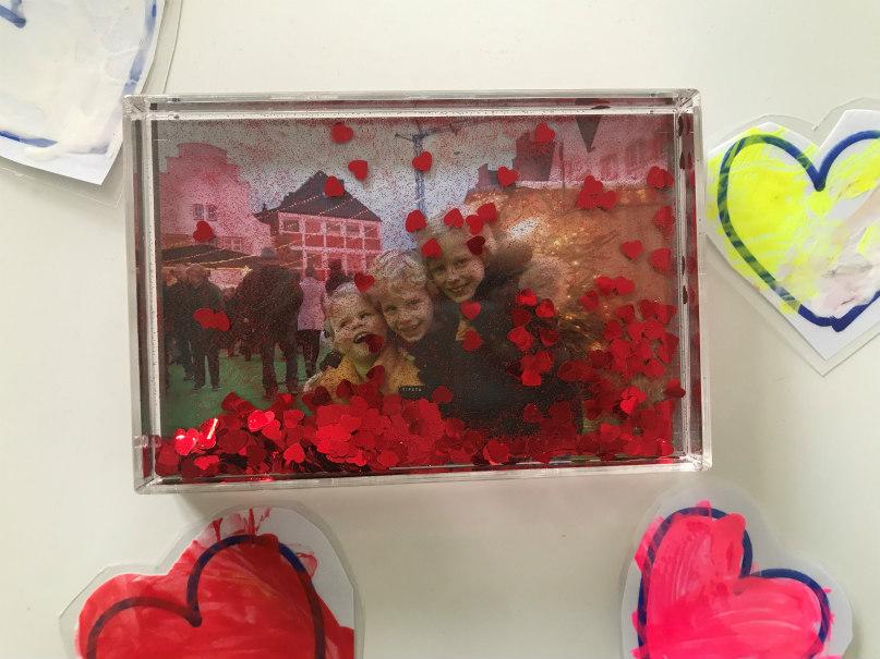 Valentijnsdag: foto's, hartjes en glitters voor papa!
