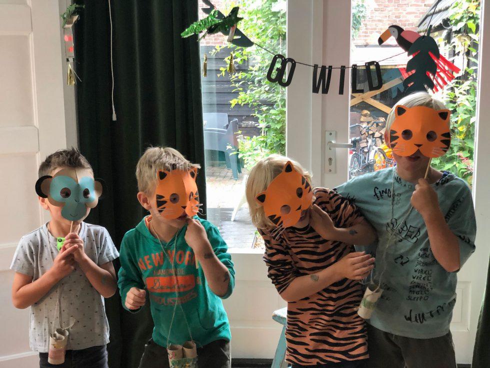 kinderfeestje in jungle stijl